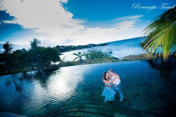 ślub na Mauritiusie w wodzie