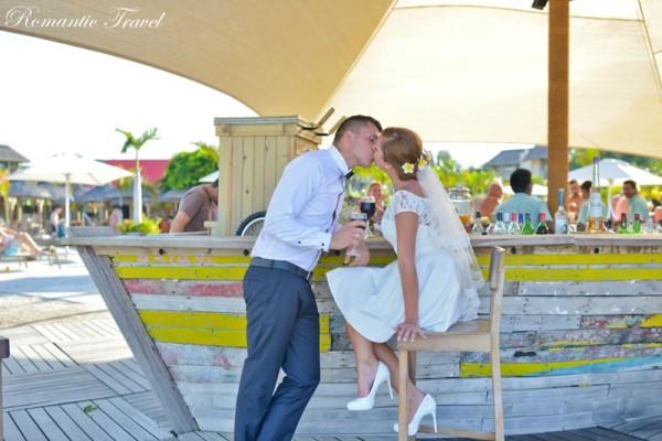 ślub na Mauritiusie całus