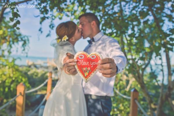 ślub na Mauritiusie serce