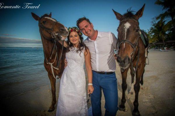 Ślub na Mauritiusie para