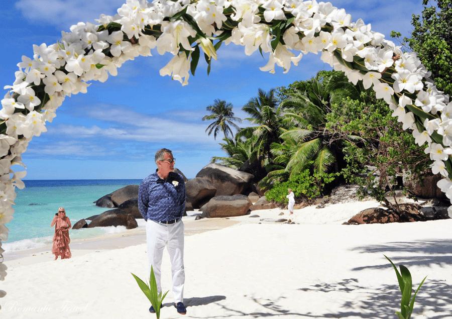 Ślub na Seszelach łuk